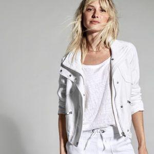 Athleta White Moto Jacket EUC